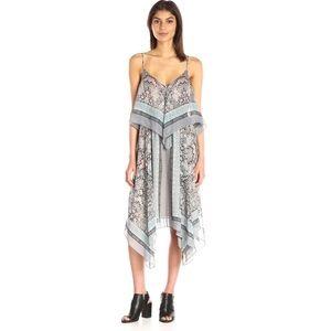 BCBGMaxAzria Novah Handkerchief Silk Chiffon Dress
